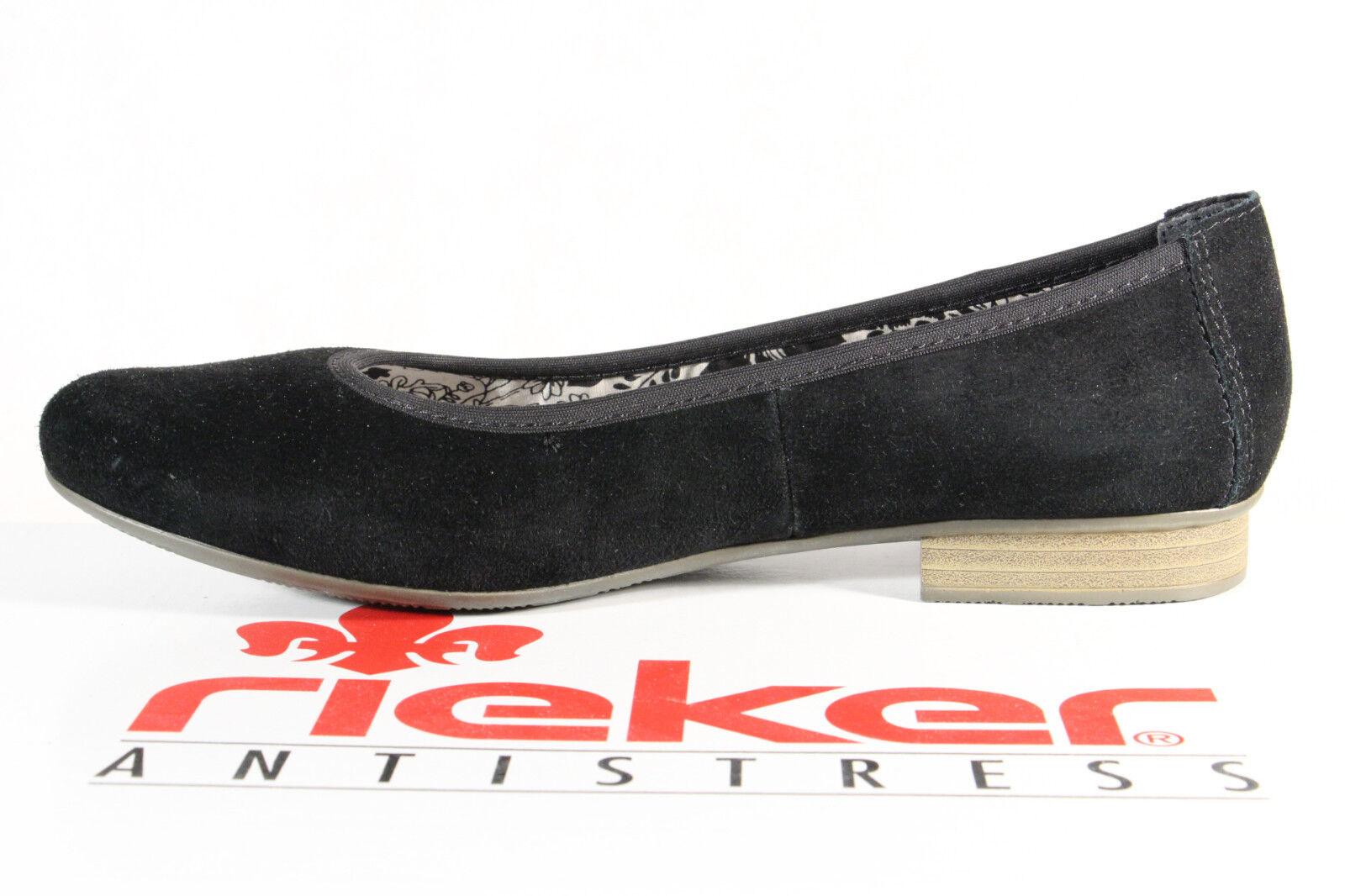 Rieker 51994 Ballerina Ballerina Ballerina Slipper Pumps schwarz Velourleder NEU  462626