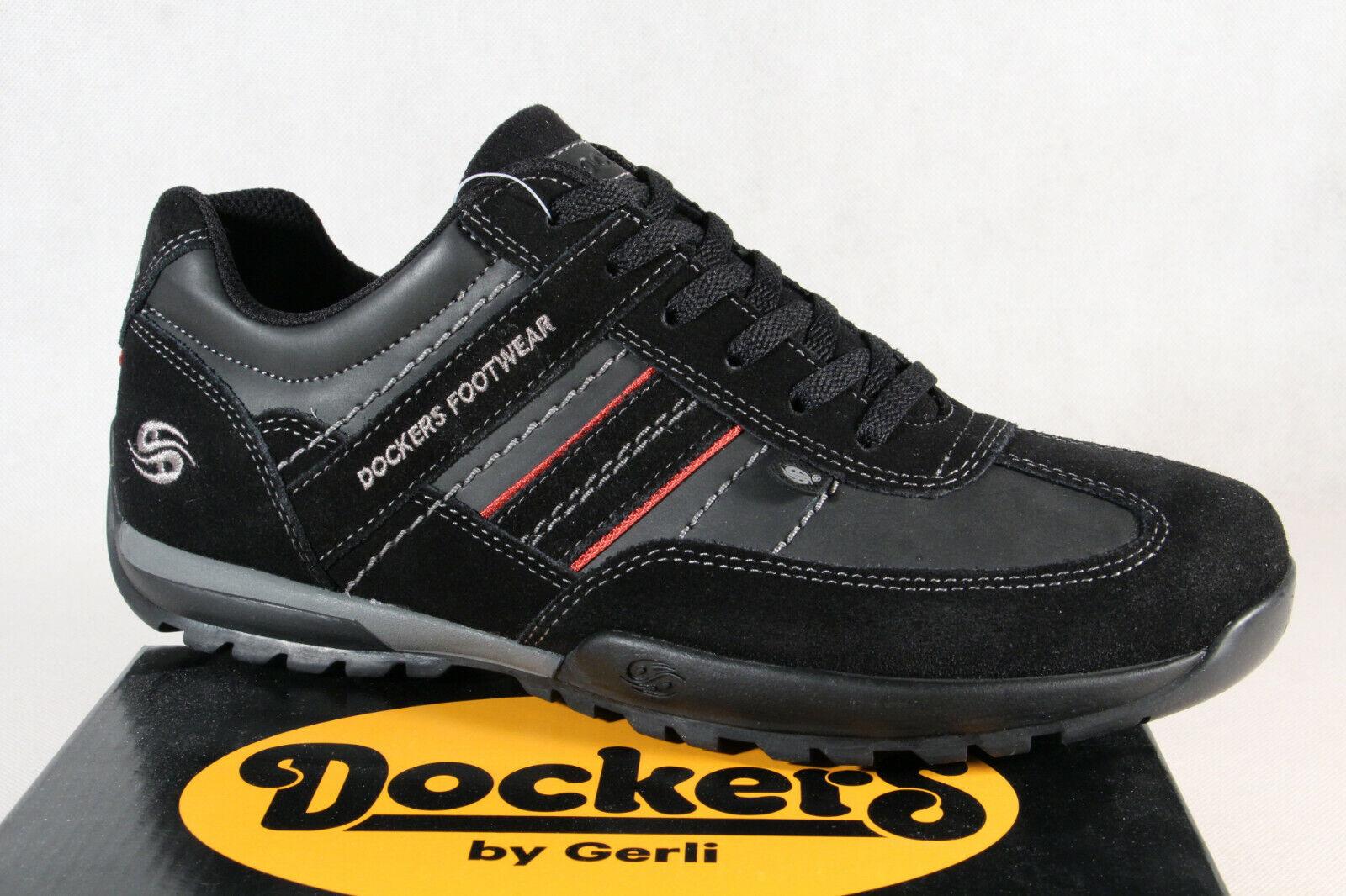 pick up ae8be b696c Dockers Herren Schnürschuhe Sneaker Halbschuhe schwarz/ grau 36 HAT 001 NEU!