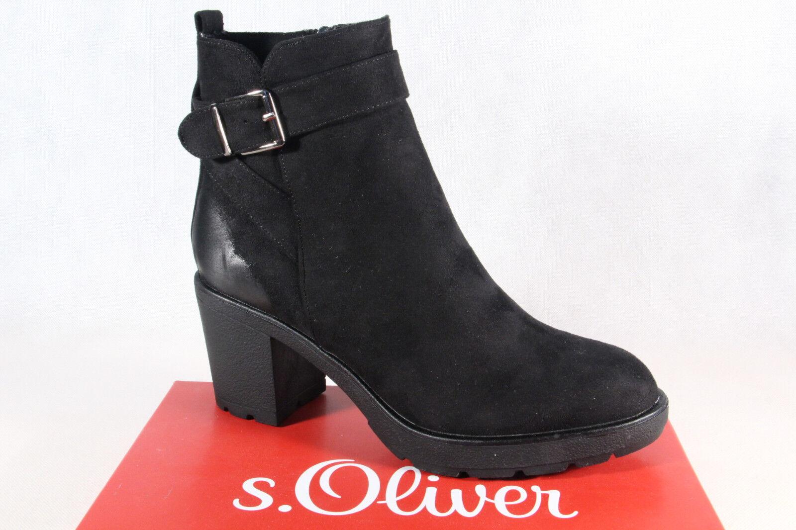 S.Oliver Damen Stiefel, Stiefelette, Stiefel schwarz 25441 NEU