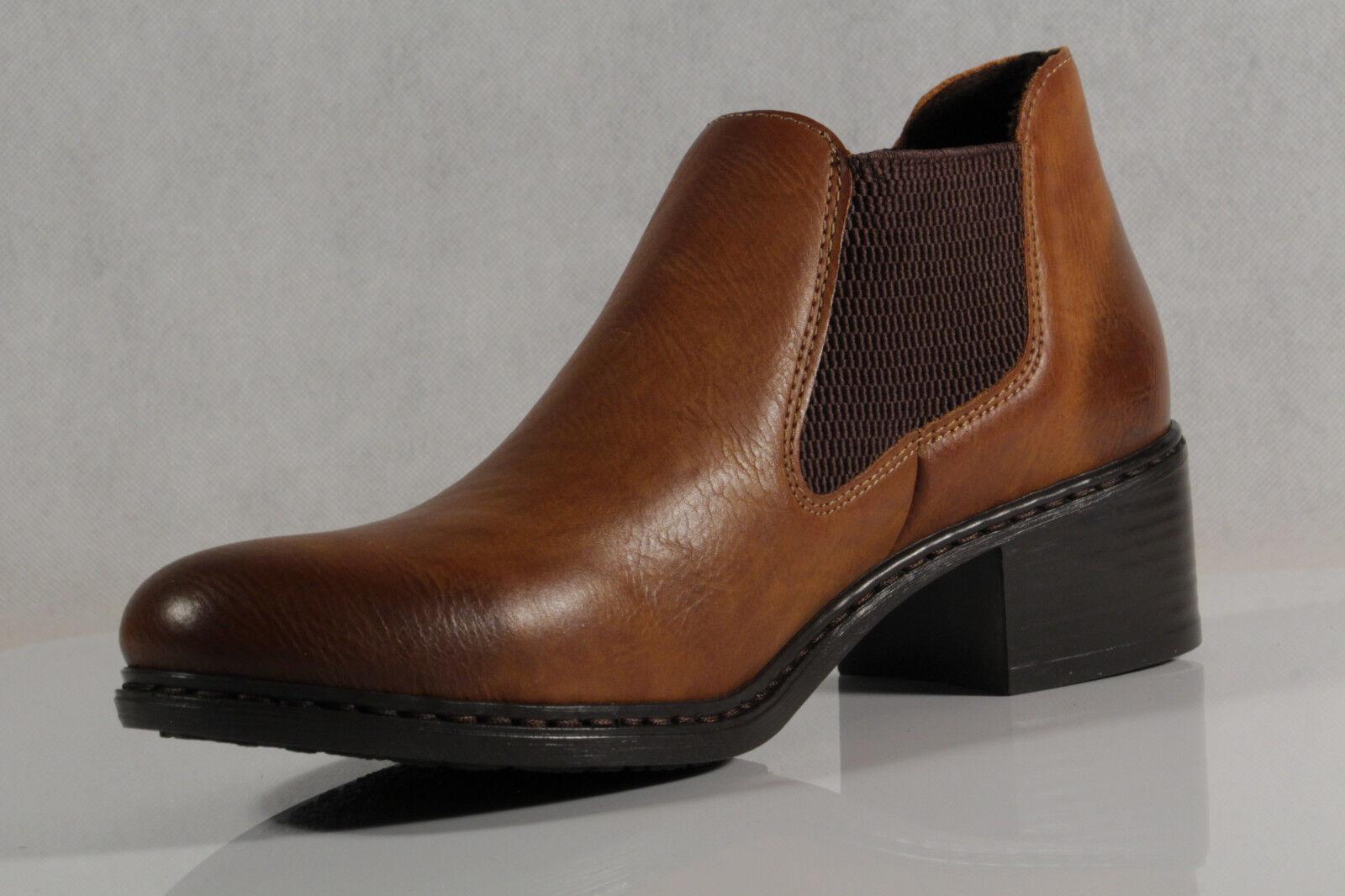 Stiefel braun 57690 NEU Boots Schlupfstiefelette Rieker Stiefelette