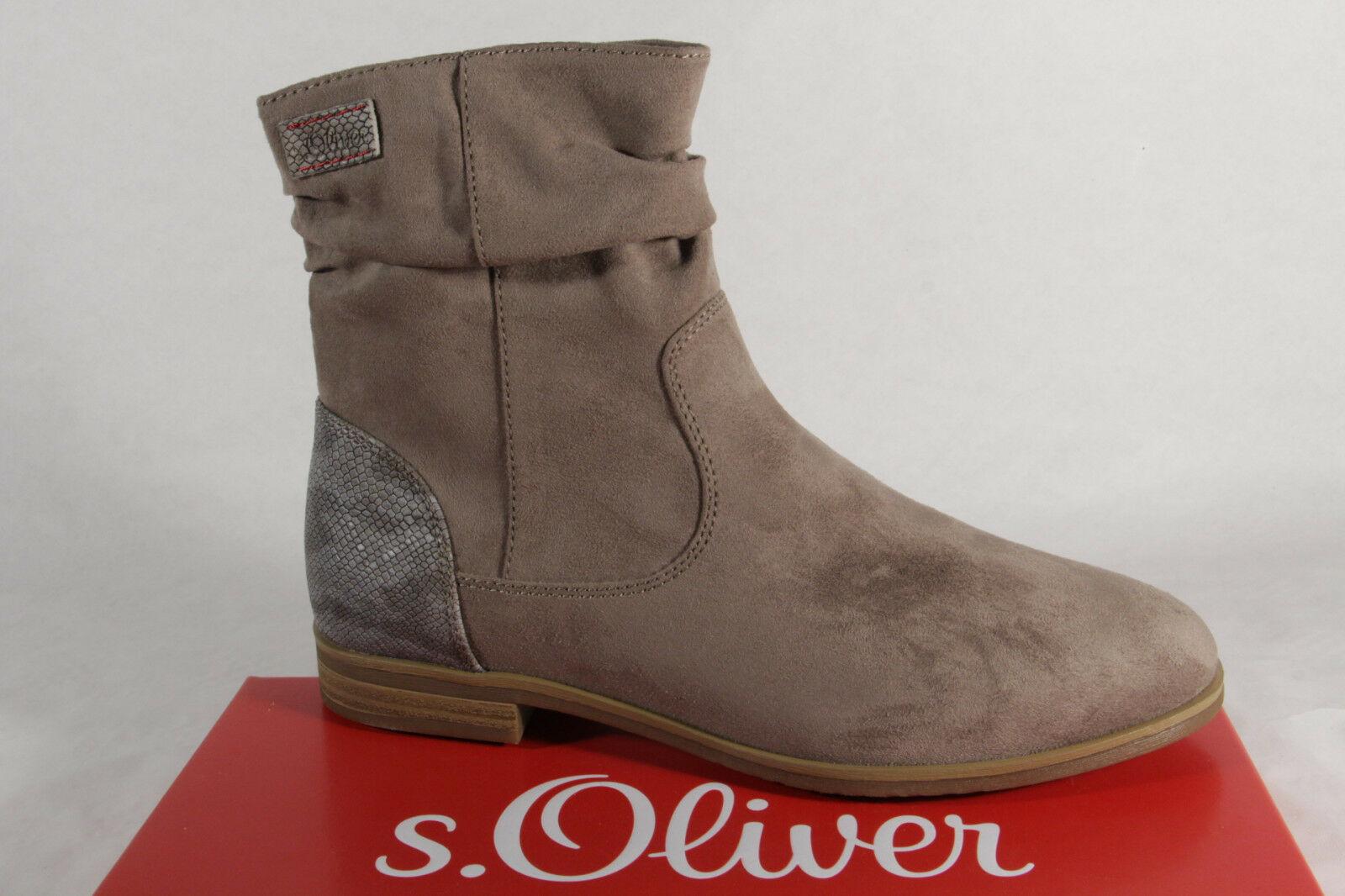 S.Oliver Damen Stiefel, Stiefelette, Stiefel beige 25357 NEU