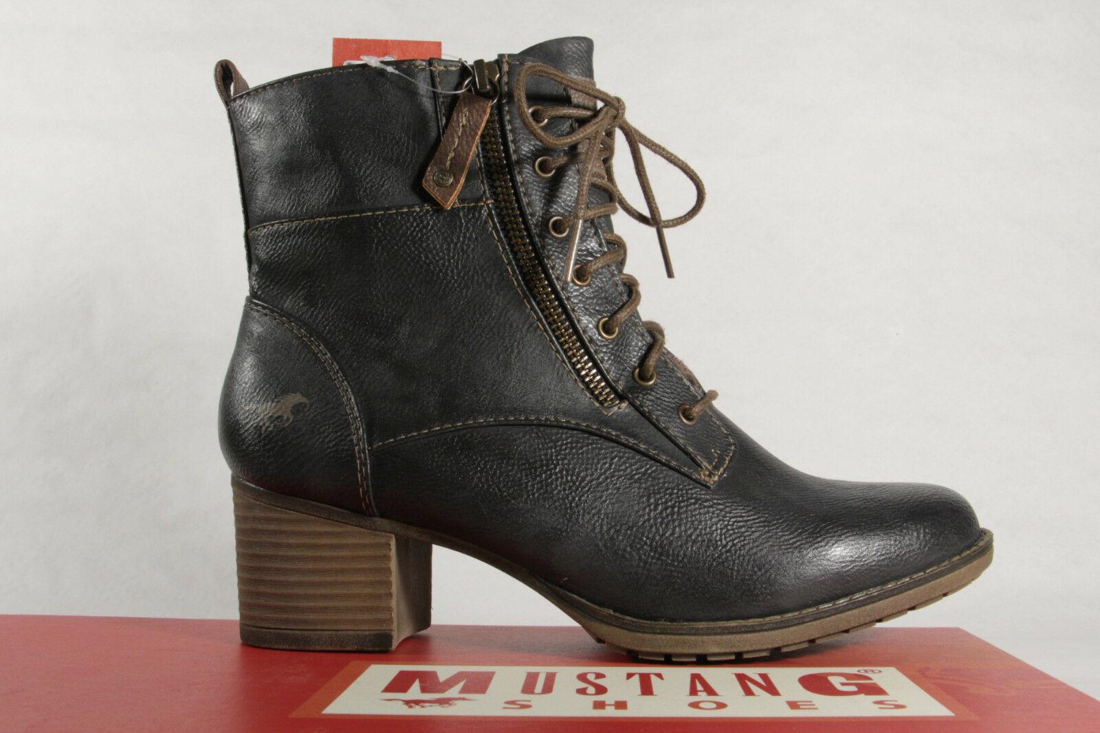 Mustang Mustang Mustang Stiefel Stiefeletten Schnürstiefel Stiefel grau 1197 NEU  9adb20