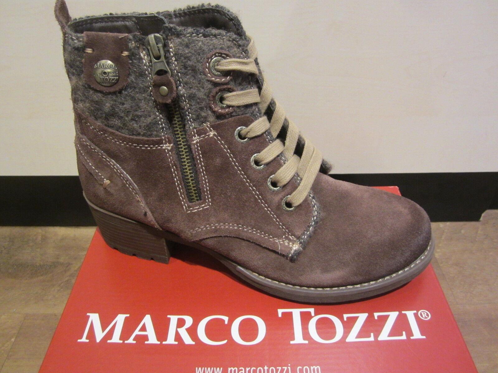 Marco Tozzi Stiefel, Stiefelette, Winterstiefel, braun, leicht gefüttert NEU