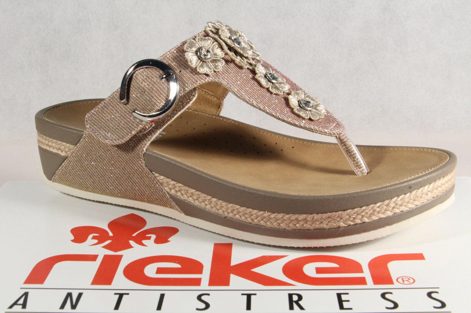Rieker Damen Zehenstegpantolette Pantolette Sandale 18aHW