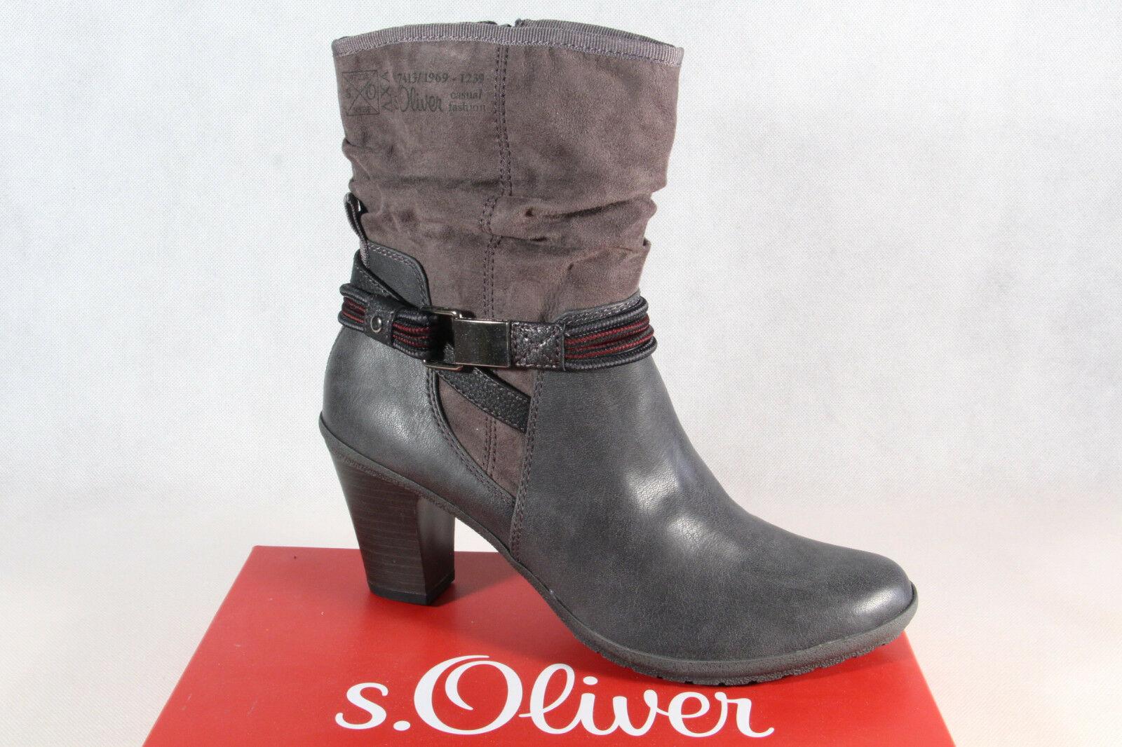 S.Oliver Damen Stiefel, Stiefelette, Stiefel grau 25337 NEU