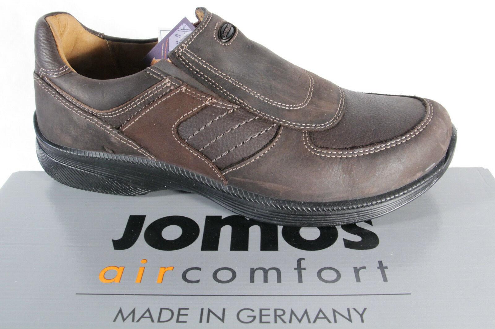 Jomos aircomfort Herren Slipper, Lederwechselfußbett, braun, extra weit, NEU
