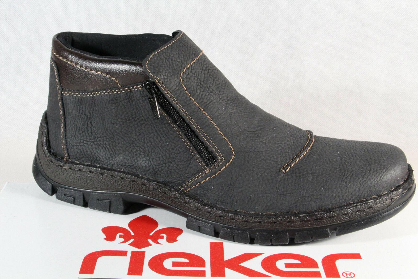 RIEKER HERRENSCHUHE STIEFEL Leder Stiefeletten Boots braun
