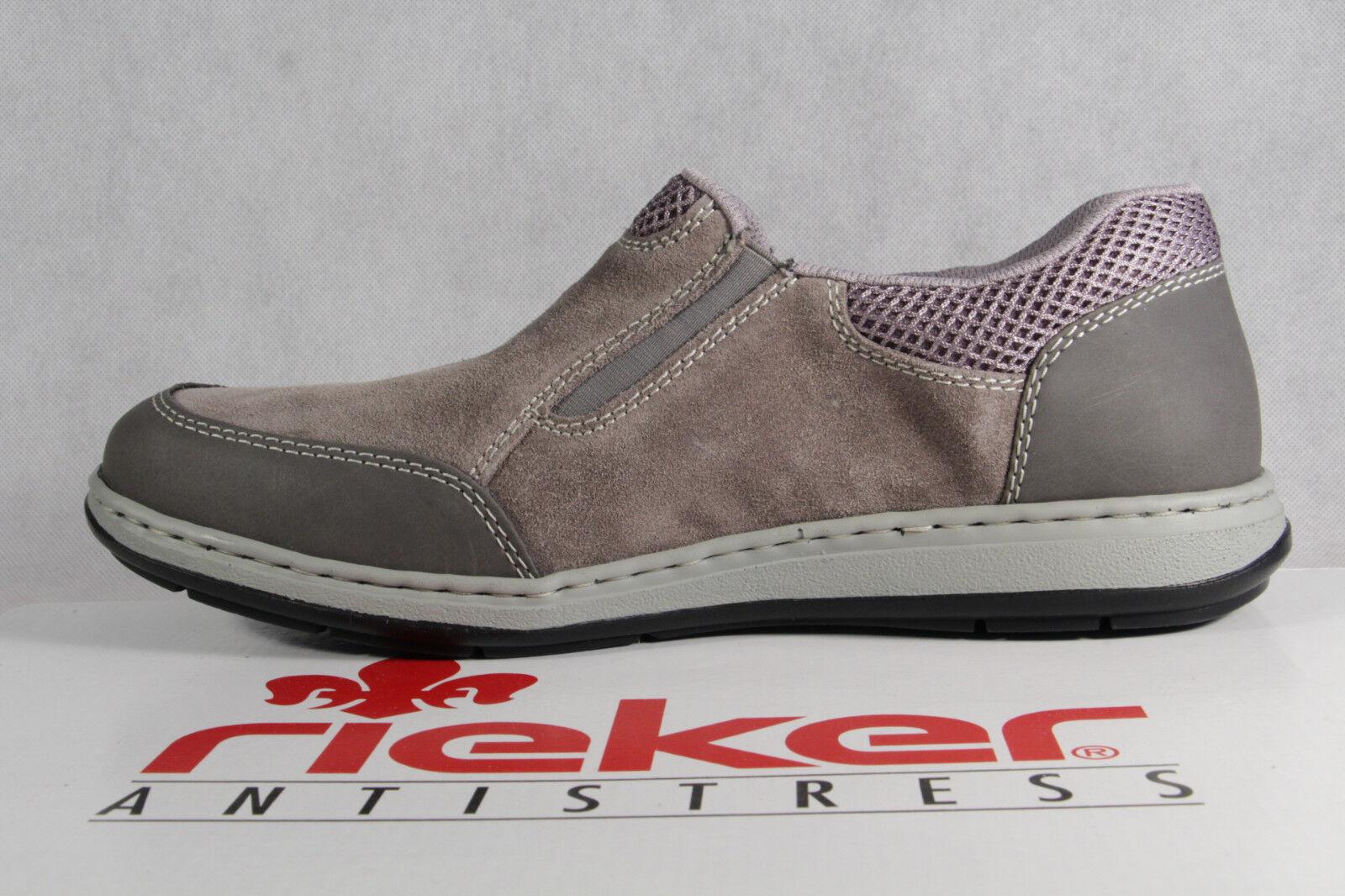 Rieker Halbschuhe Slipper Schnürschuhe Sneaker grau extra weit NEU!!