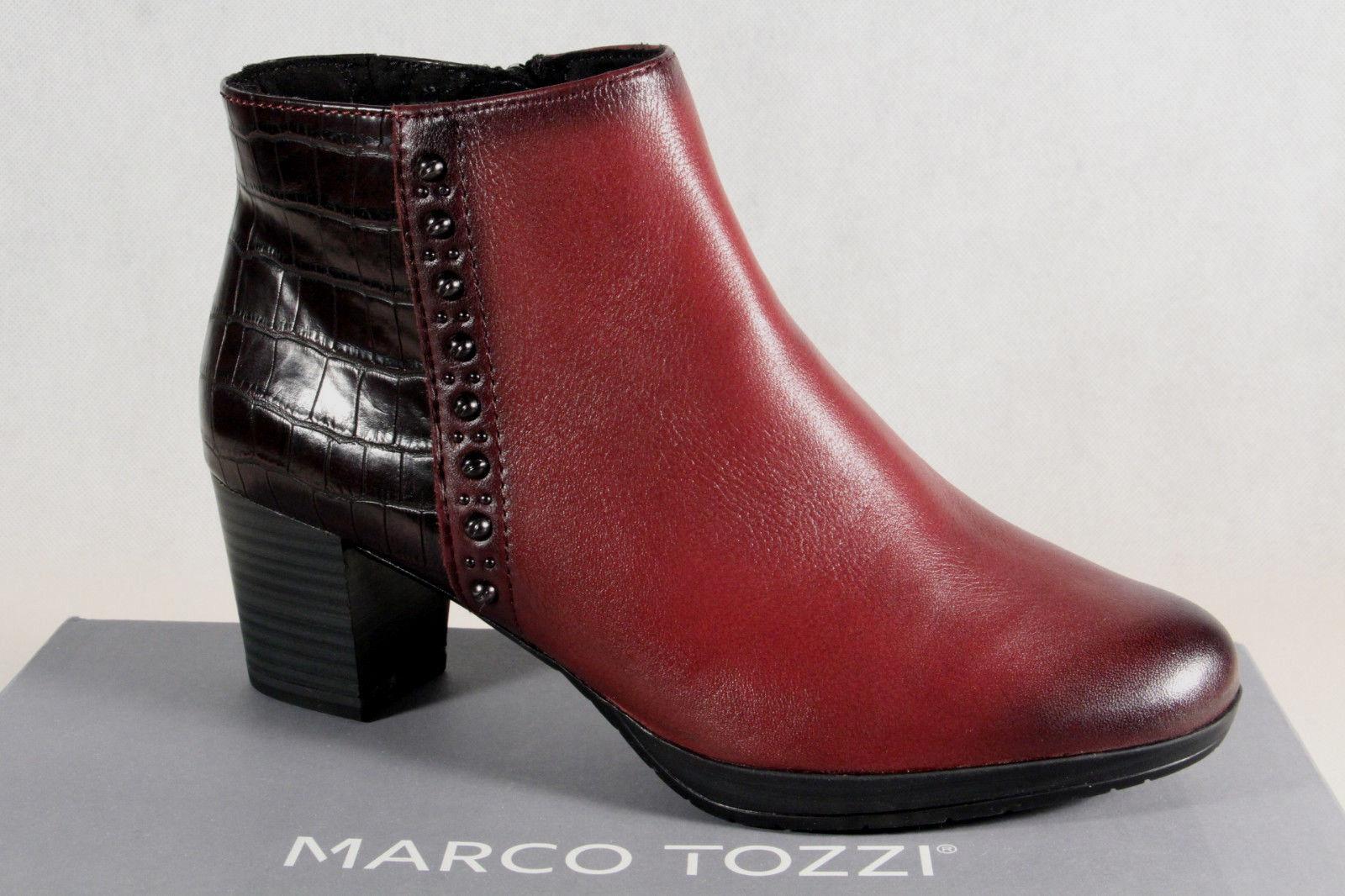 Marco Tozzi Stiefelette Stiefel Reißverschluß gefüttert 25388 Echtleder NEU