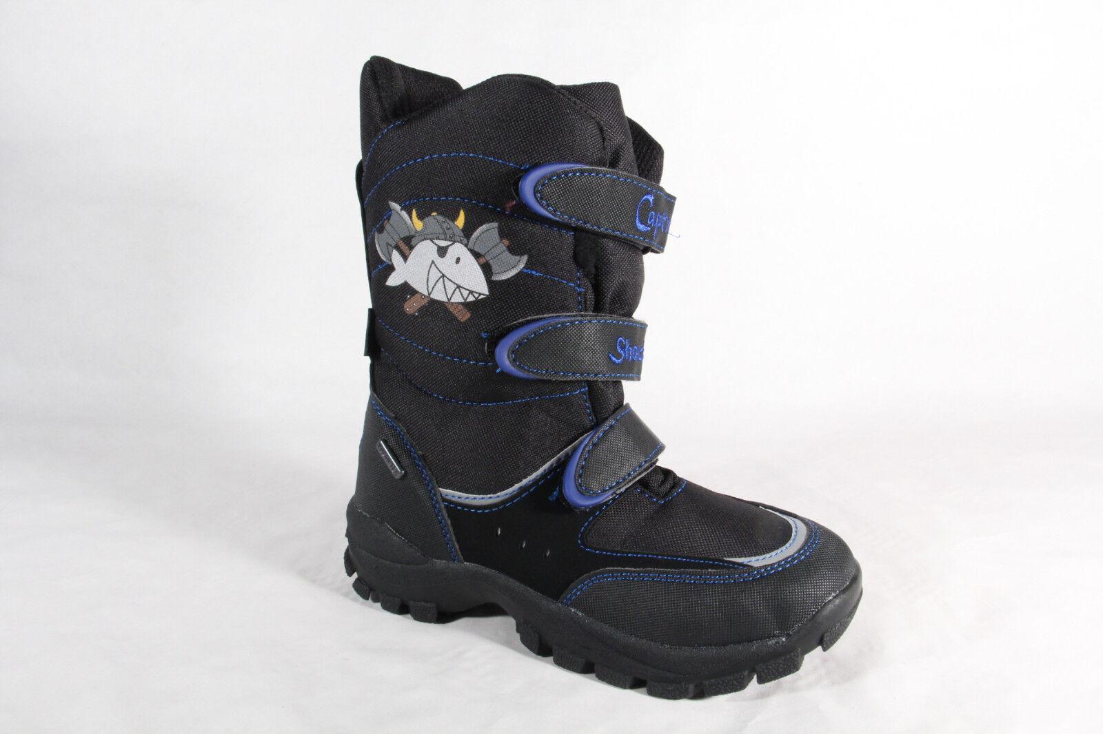 Capt'n Sharky Tex Stiefel Stiefel Winterstiefel schwarz blau 470539 NEU