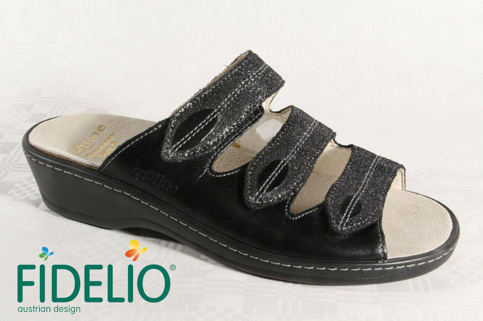 Fidelio Soft Line Damen Pantolette Pantoffel Echtleder 23423 NEU