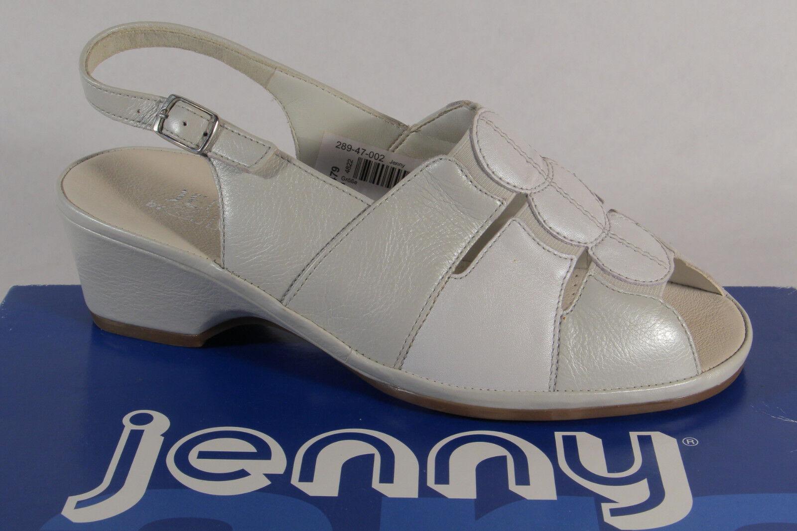 Jenny by Ara Sandalen Sandaletten Sling Echtleder weiss NEU