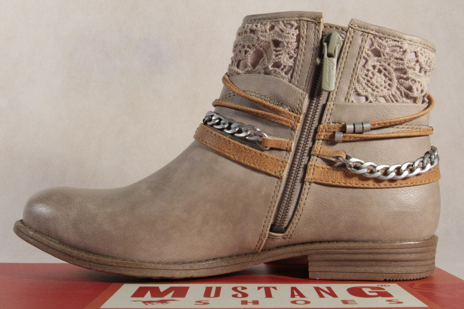 Mustang Stiefel Stiefeletten Schnürstiefel Boots beige NEU!
