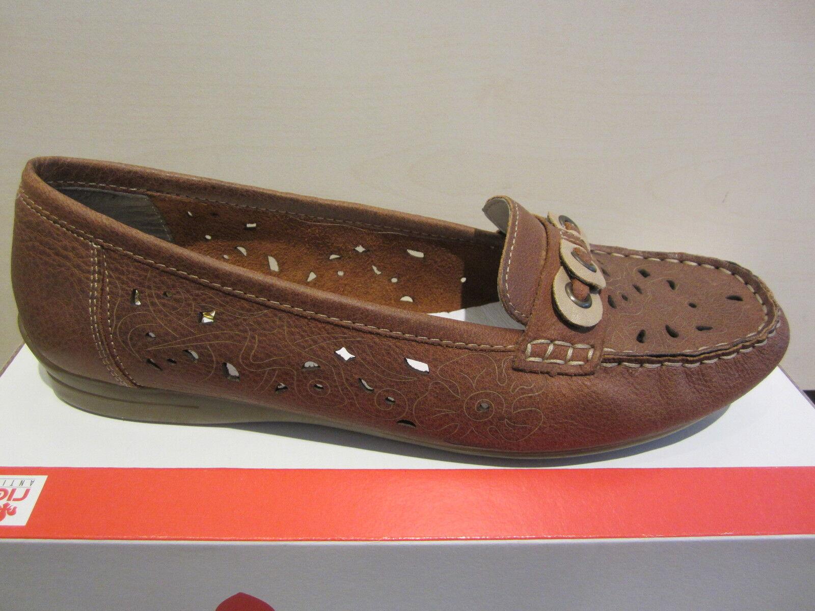 Rieker Slipper Sneakers Halbschuhe braun weiche
