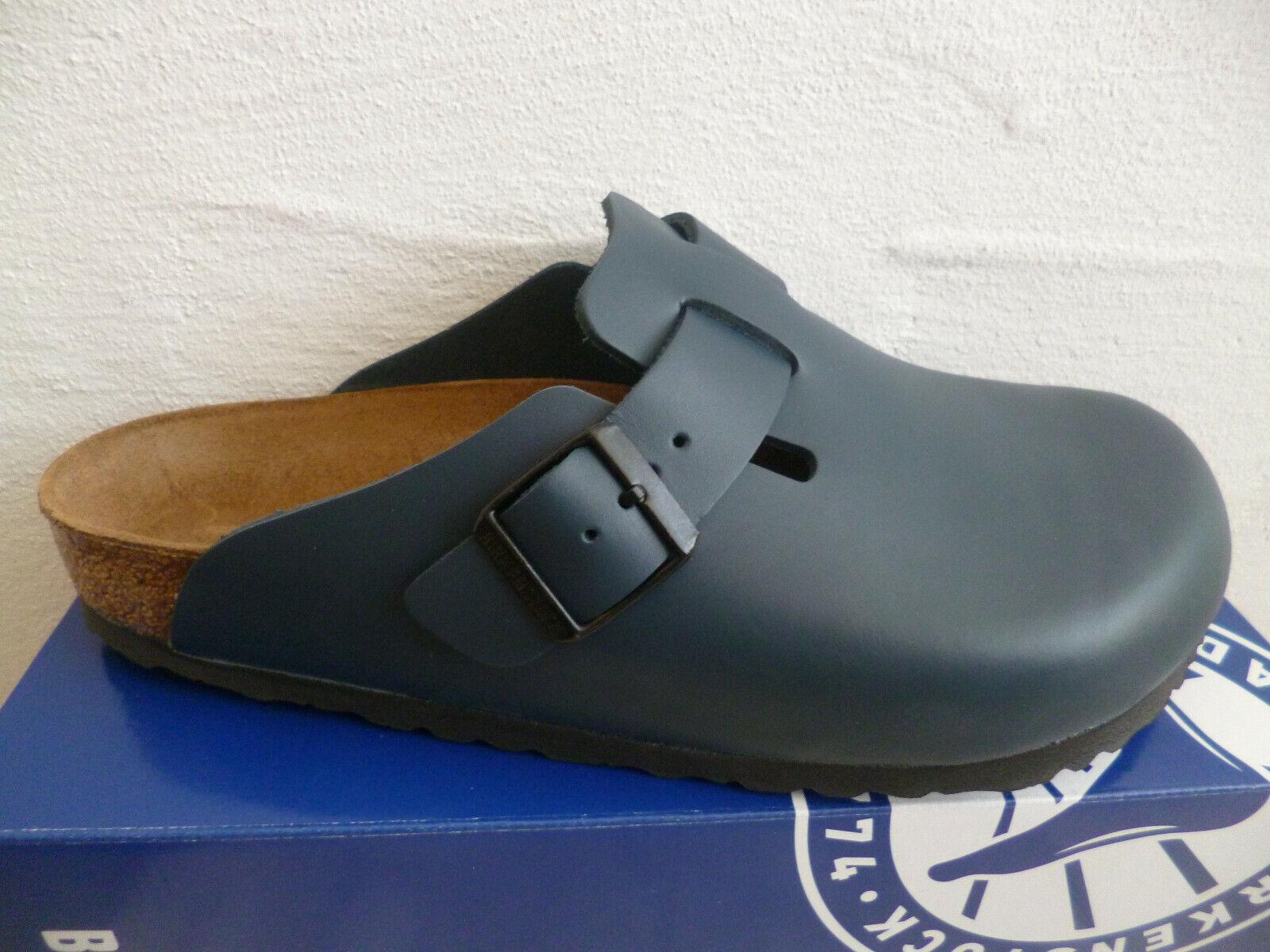 Birkenstock Boston Clogs Pantolette Blau Echtleder 60151 NEU!