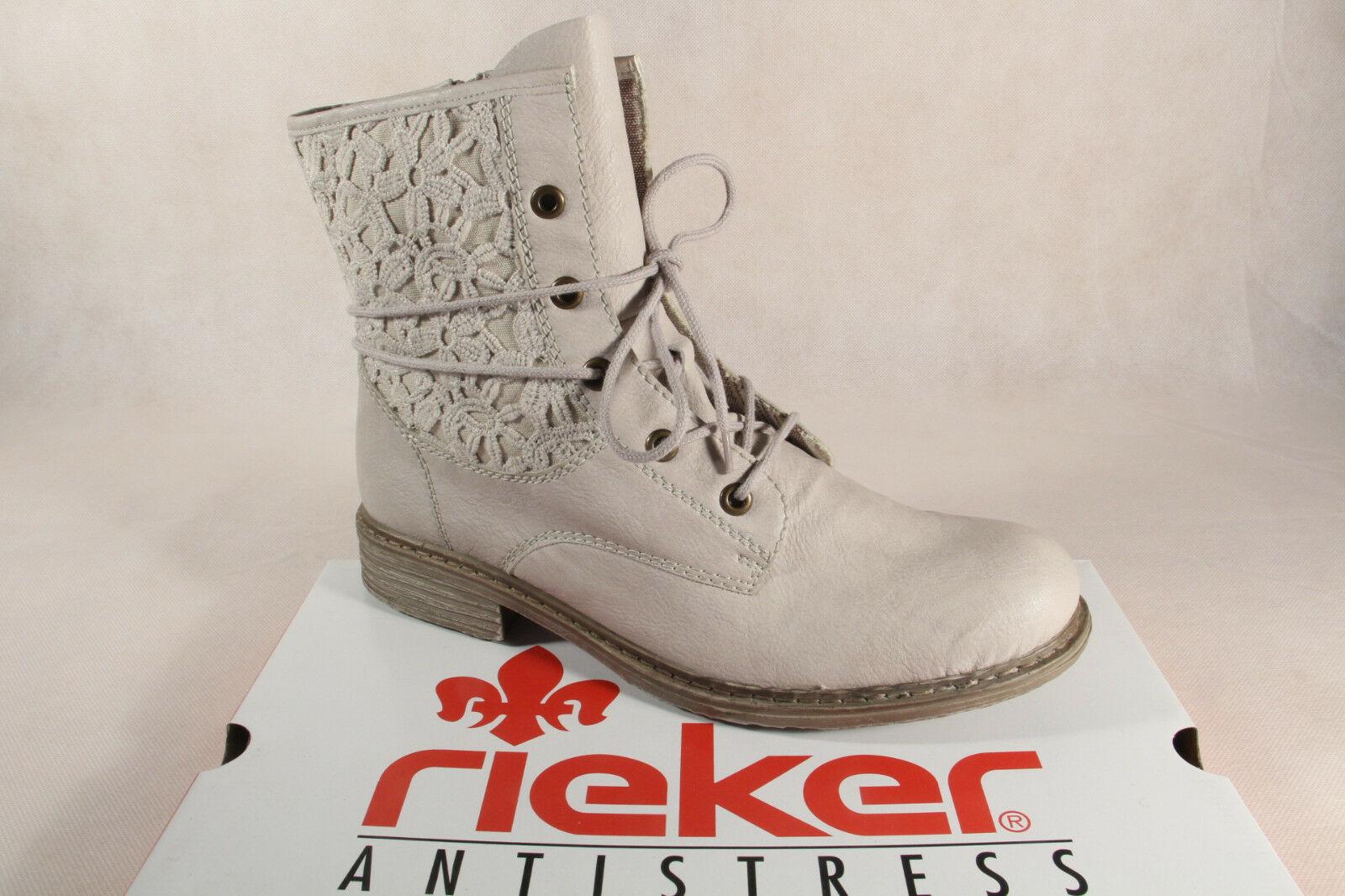 Rieker Z2125 Damen Stiefel Siefeletten Boots Kunstleder grau NEU!