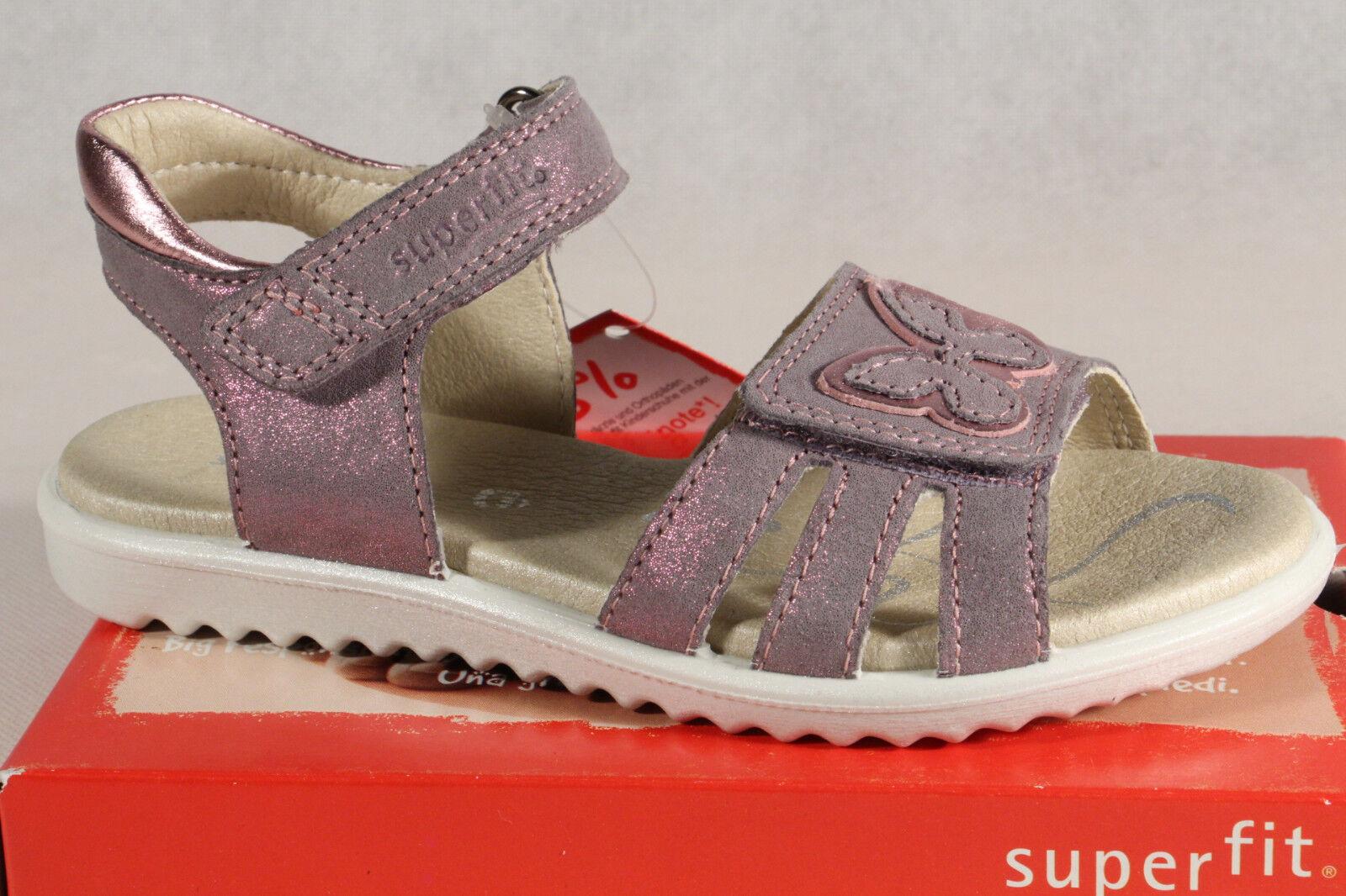 Superfit Mädchen Sandale Sandalette grau  lilat metallic Neu