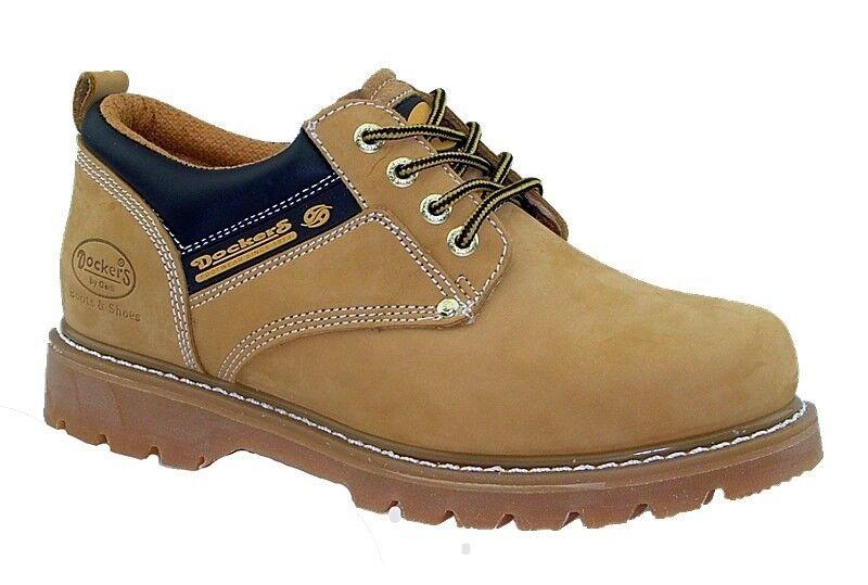 big sale ee0d8 2c9c6 Dockers Herrenschuhe Boots Leder Schuhe Halbschuhe Schnürschuhe gelb NEU!