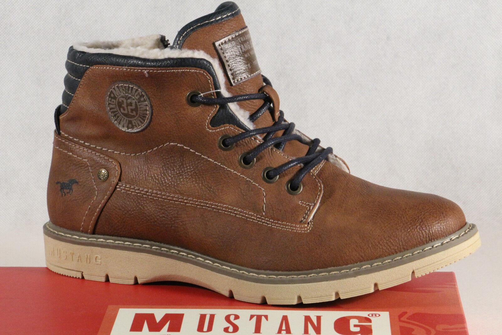 Mustang Stiefel Stiefeletten Stiefelette Schnürstiefel Stiefel braun 5017 NEU
