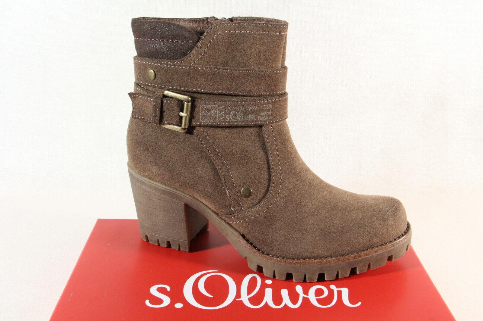 Damen S Oliver Stiefelette 25426 Boots Stiefel NEU braun
