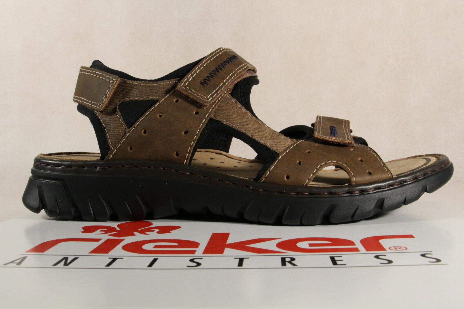 Rieker Herren Sandale Sandalen Sandalette Sandaletten braun 26757 NEU!!!