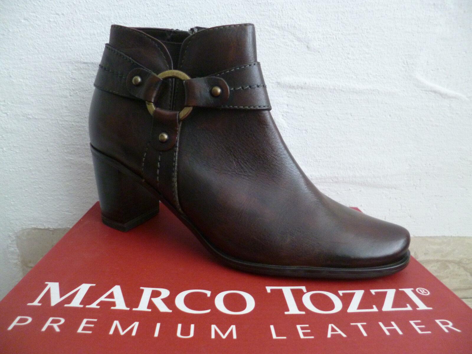 new styles dd8a7 0b46c Marco Tozzi Damen Stiefelette Stiefel Winterstiefel Boots braun Leder NEU