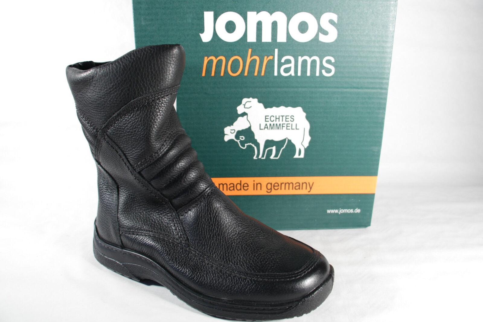 87e752622057d0 Jomos Stiefel Winterstiefel Stiefeletten Boots schwarz Leder Lammfell 40850  Neu!