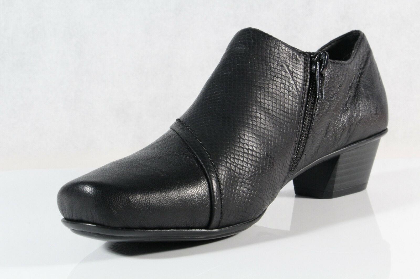 Rieker Damen Slipper Halbschuhe, Sneakers schwarz Echtleder W0Iu2