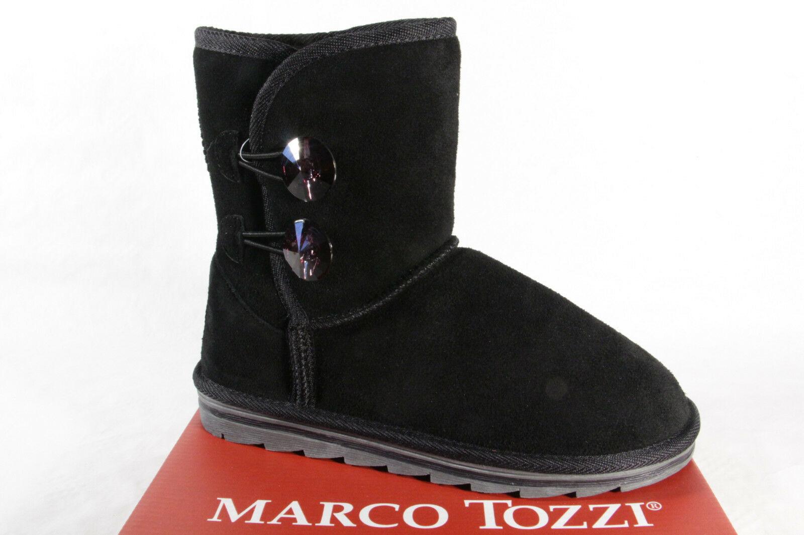Marco Tozzi 26484 Damen Stiefel, Stiefelette, Stiefel Echtleder schwarz NEU