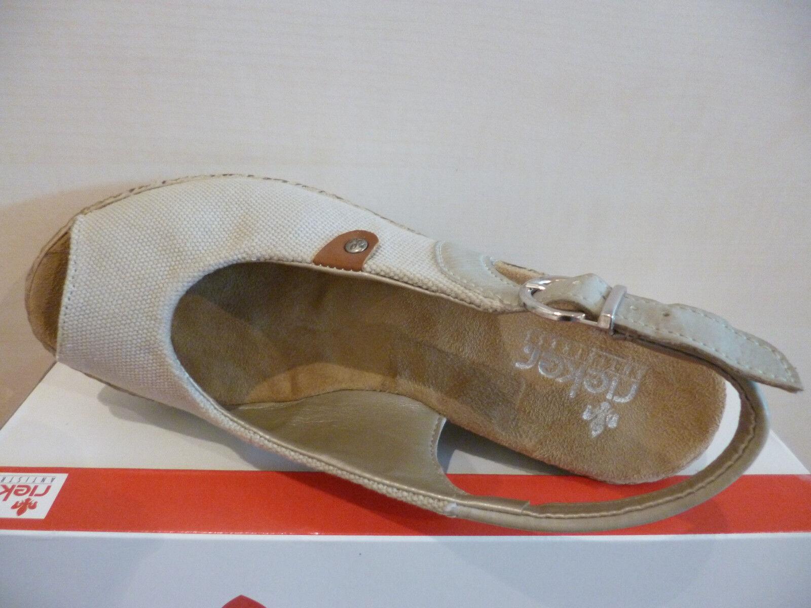 Rieker Rieker Rieker Damen Sandale Sandalette beige NEU   ed2d6f