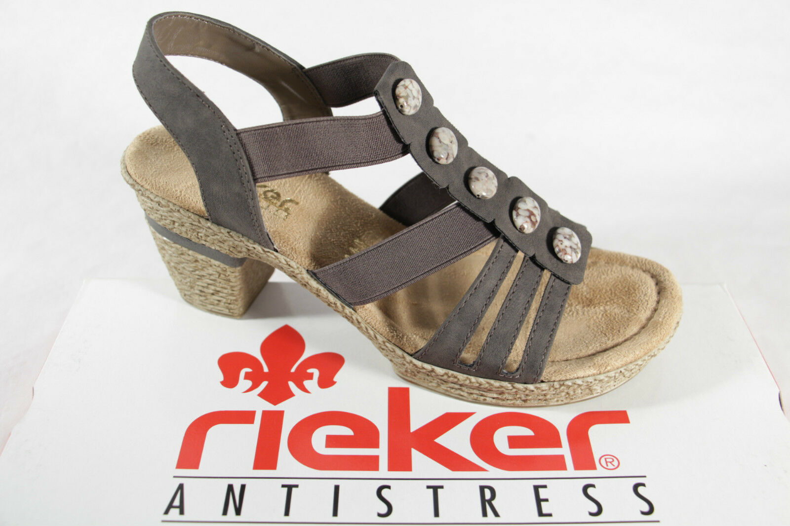 sneakers good out x new cheap Rieker Damen Sandale grau, weiche Innensohle, NEU!!