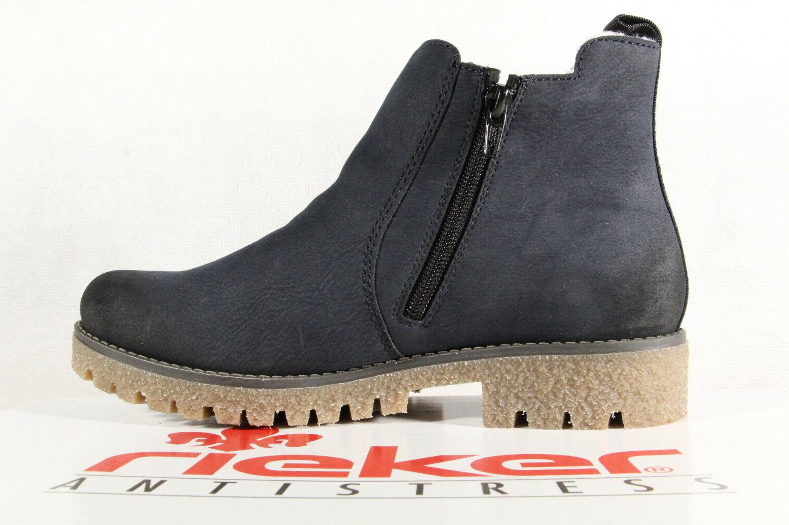 2ed8a2689bcd Rieker Stiefel Stiefelette Boots, Winterstiefel blau 79884 NEU ...