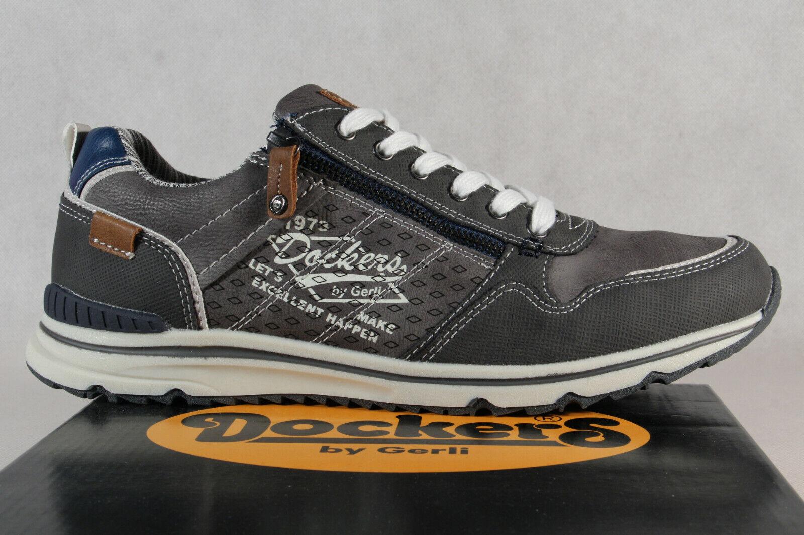 Dockers Herren Schnürschuhe Sneakers Halbschuhe grau 42MO003
