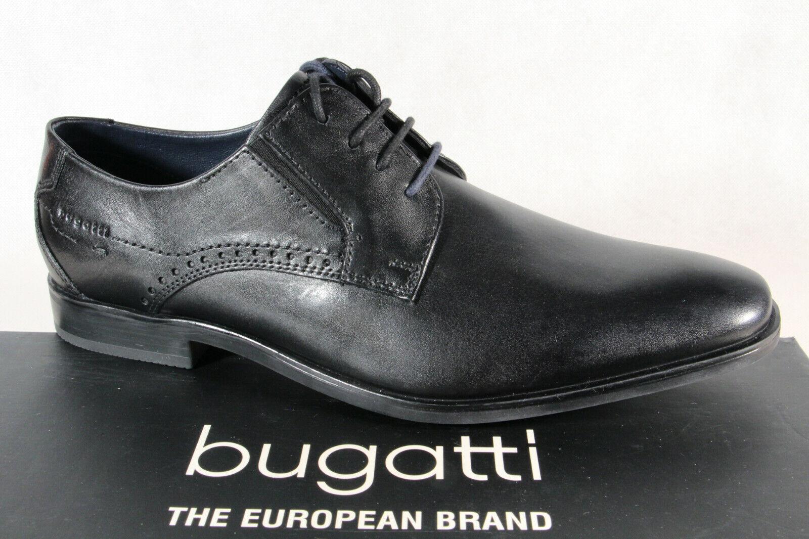 Bugatti Herren Schnürschuh Schnürschuhe Halbschuhe Sneaker schwarz R0208 NEU!