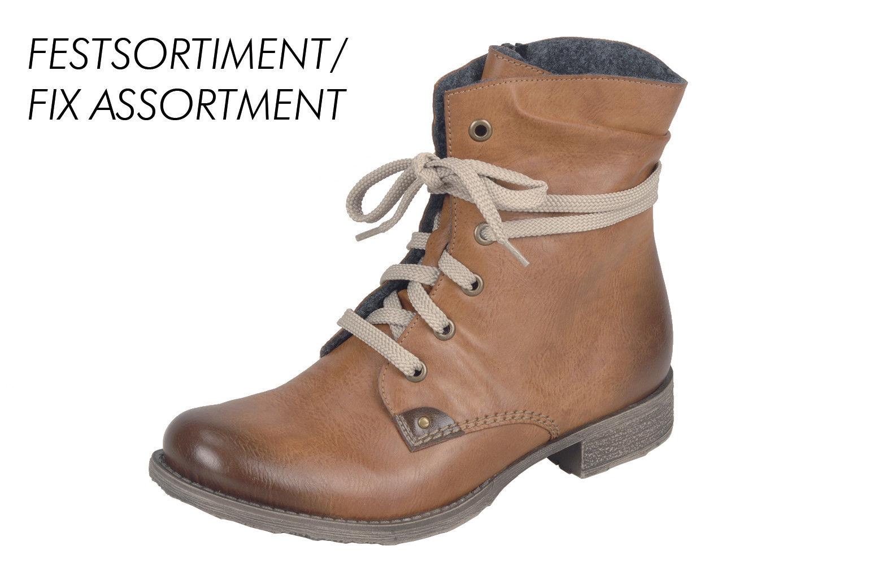Rieker Damen Stiefel Schnürstiefel Stiefelette Boots braun 70829 NEU