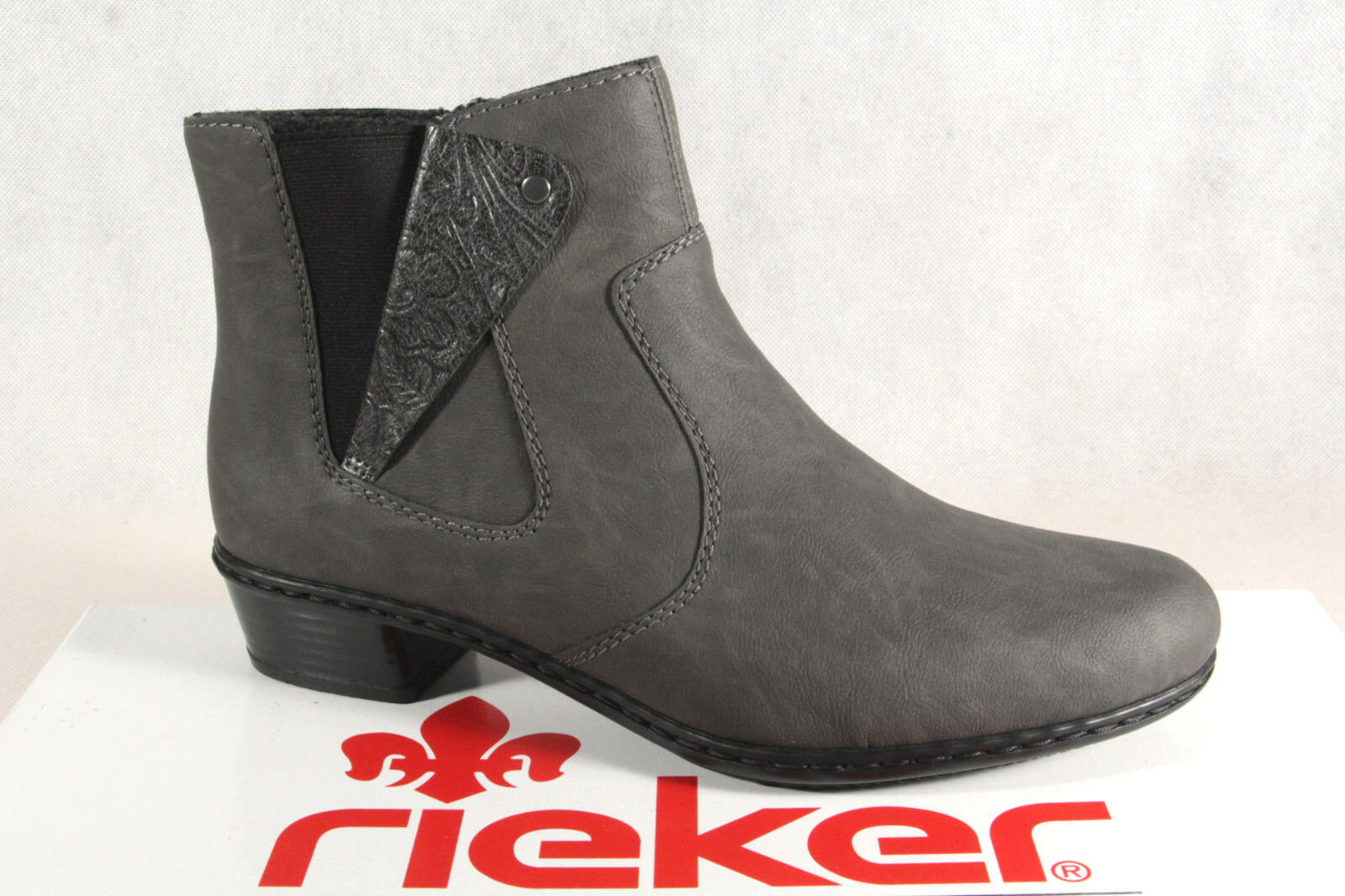 Rieker Damen Stiefel Stiefelette Stiefel grau Reißverschluß Y0741 NEU