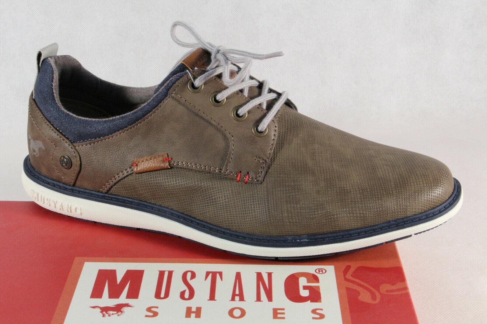 Mustang Herren Schnürschuhe Sneakers Halbschuhe Sportschuhe 4111 braun NEU!