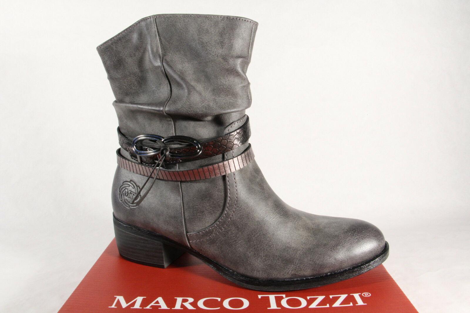 Marco Tozzi Damen Stiefel Stiefeletten Schnürstiefel, Stiefel grau 25316 NEU