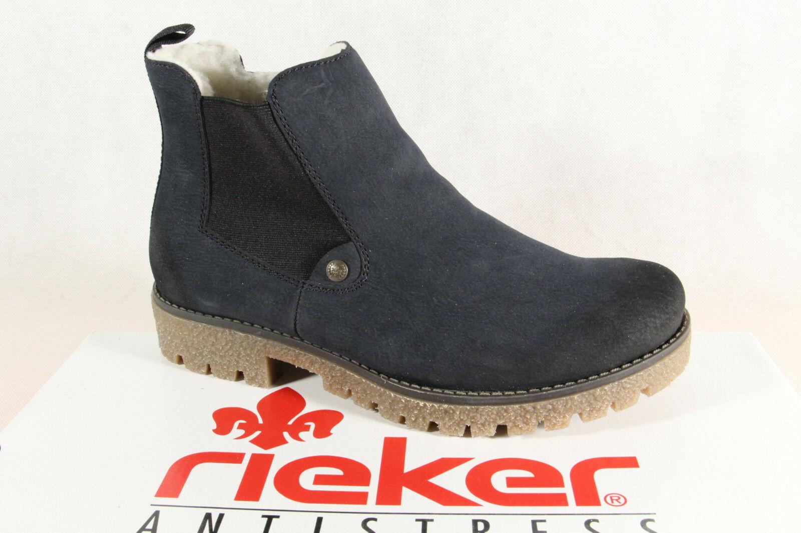 Rieker Stiefel Stiefelette Stiefel, Winterstiefel blau 79884 NEU