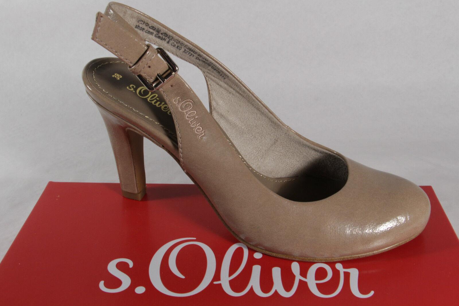 S.Oliver Sling Sandale, sand  beige, Lederinnendecksohle NEU