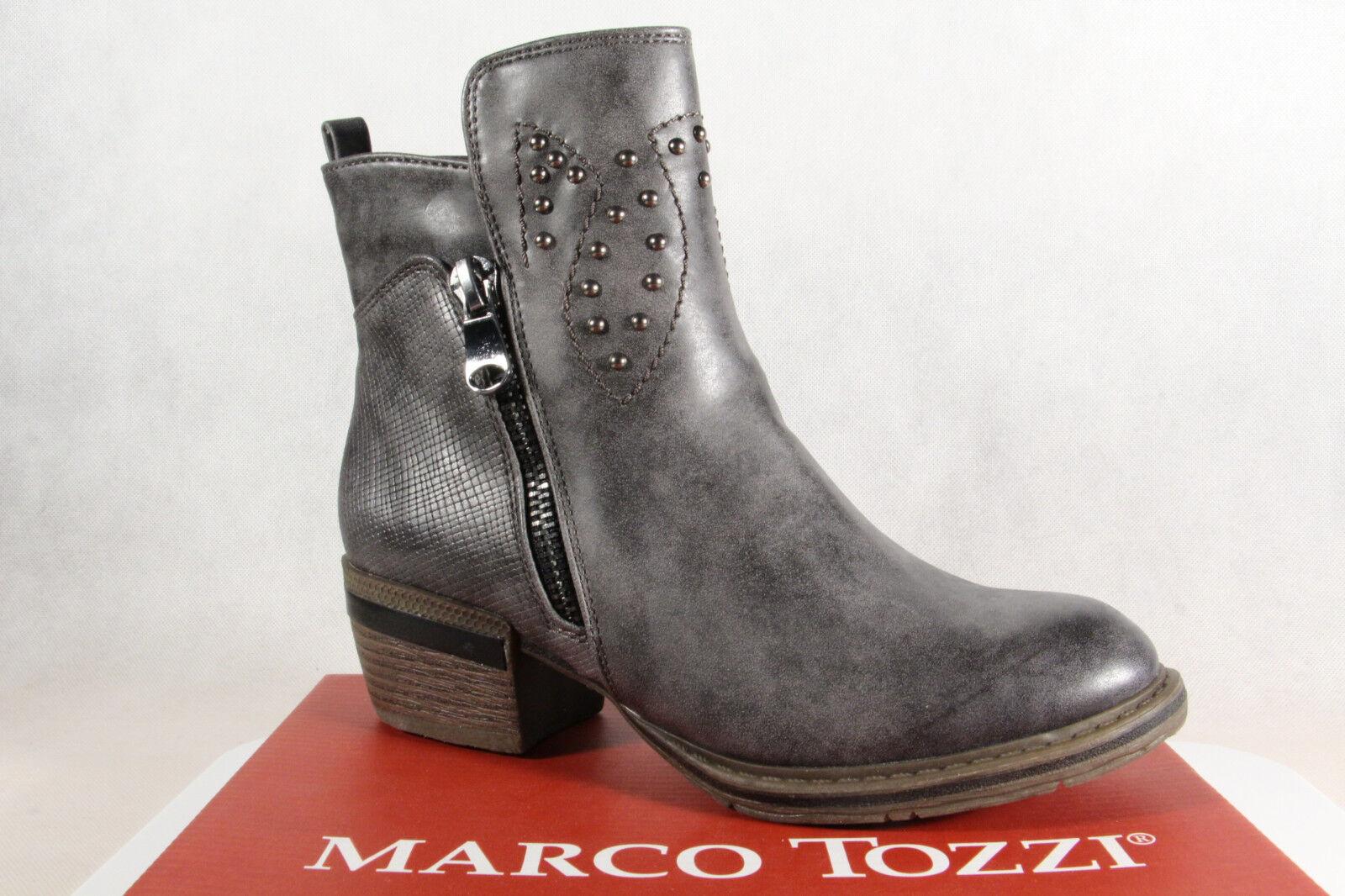 Marco Tozzi Stiefel, Stiefelette, grau, leicht gefüttert, 25361 NEU