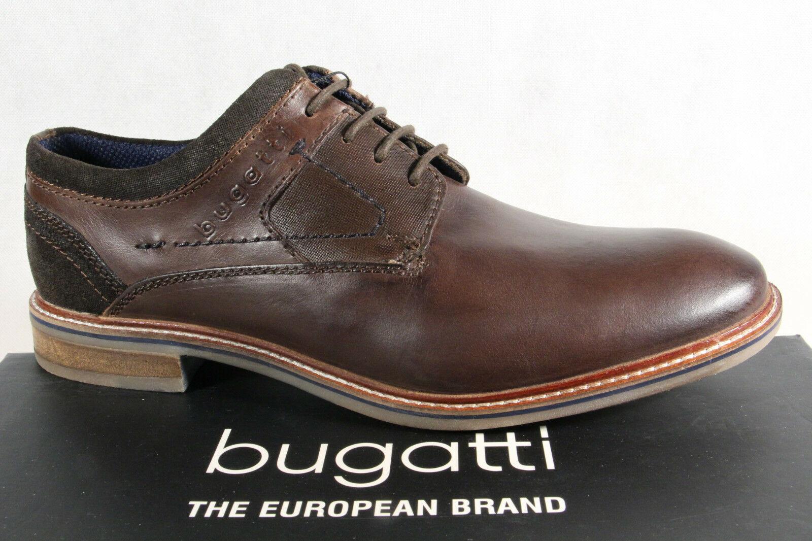 Bugatti Herren Schnürschuh, Halbschuh Sneaker dunkelbraun, 311 Usedlook NEU!!