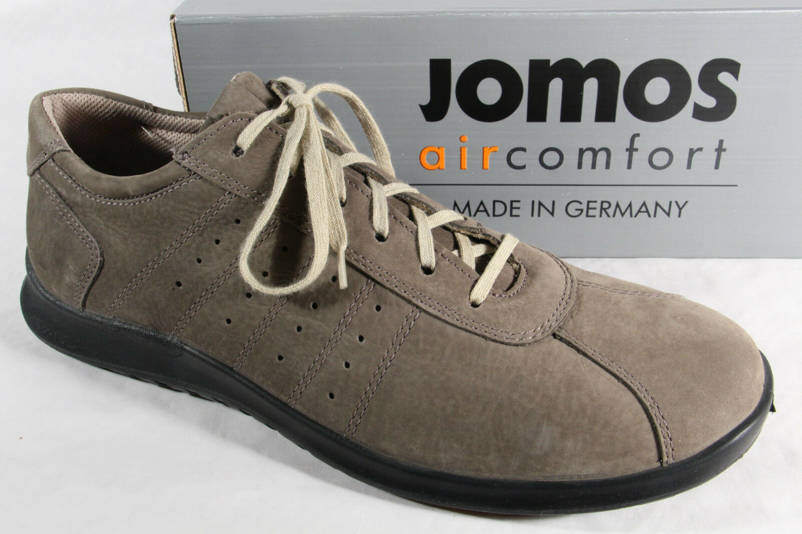 Jomos Jomos Jomos Herren Schnürschuhe Halbschuhe Turnschuhe Leder grau NEU 307558