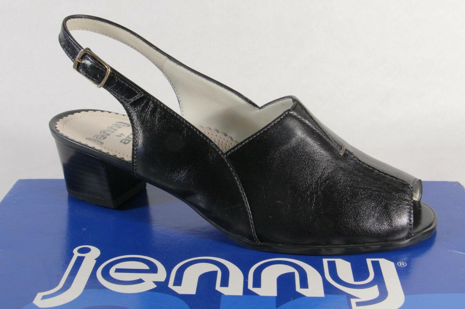 Jenny by Ara Sandalen Sandaletten Sling Echtleder schwarz NEU