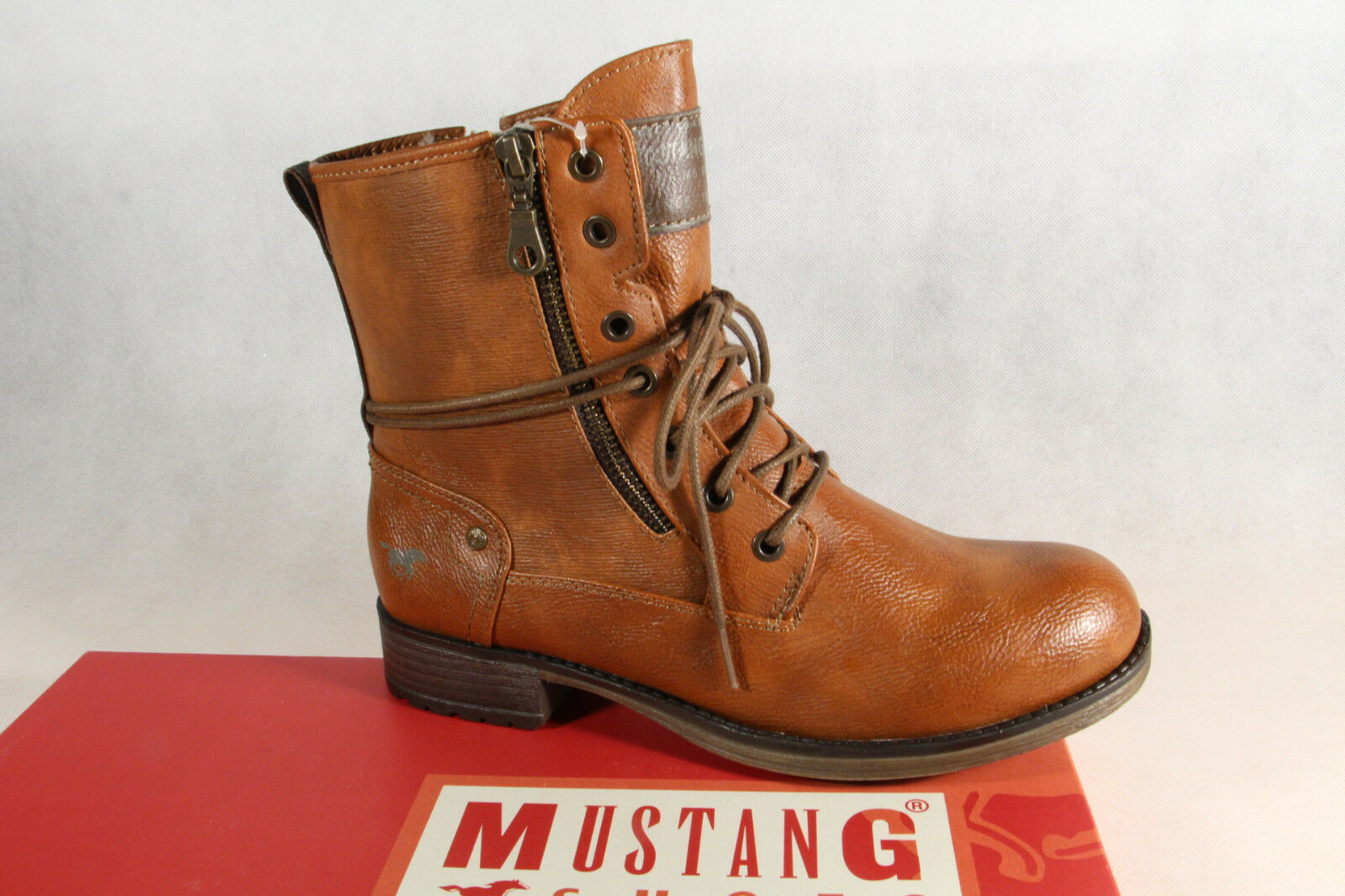 Mustang Mustang Mustang Stiefel Stiefeletten Schnürstiefel Stiefel braun 1139 NEU  6c775a