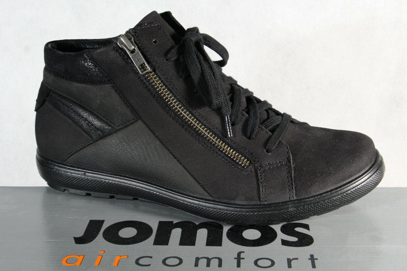 Modern und elegant in der Mode Großbritannien neu kommen an Jomos Damen Stiefeletten Boots Winterstiefel Stiefel schwarz Echtleder Neu!