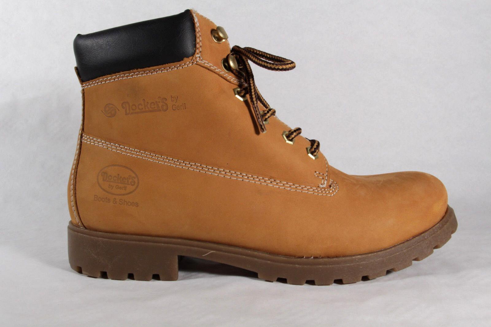 Winterstiefel 35ve006 Gelb Stiefel Herren Leder Goldentan Neu Dockers Boots iZuPkOX