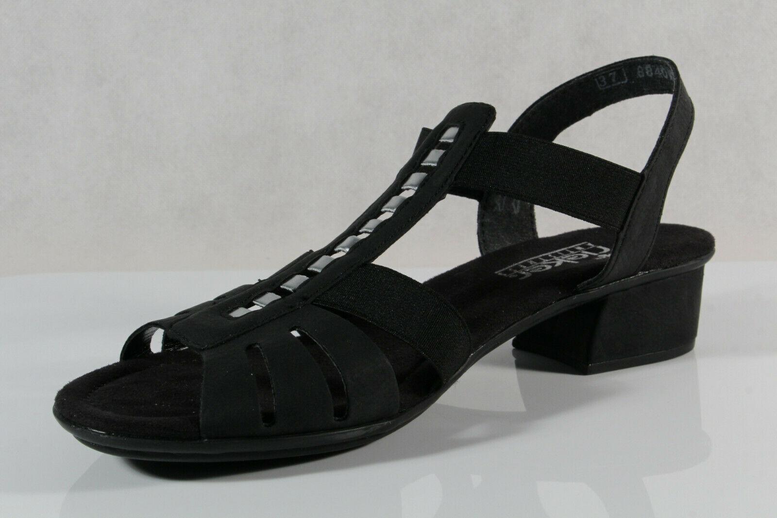 Rieker Damen Sandale Sandalette schwarz V6264 NEU!!
