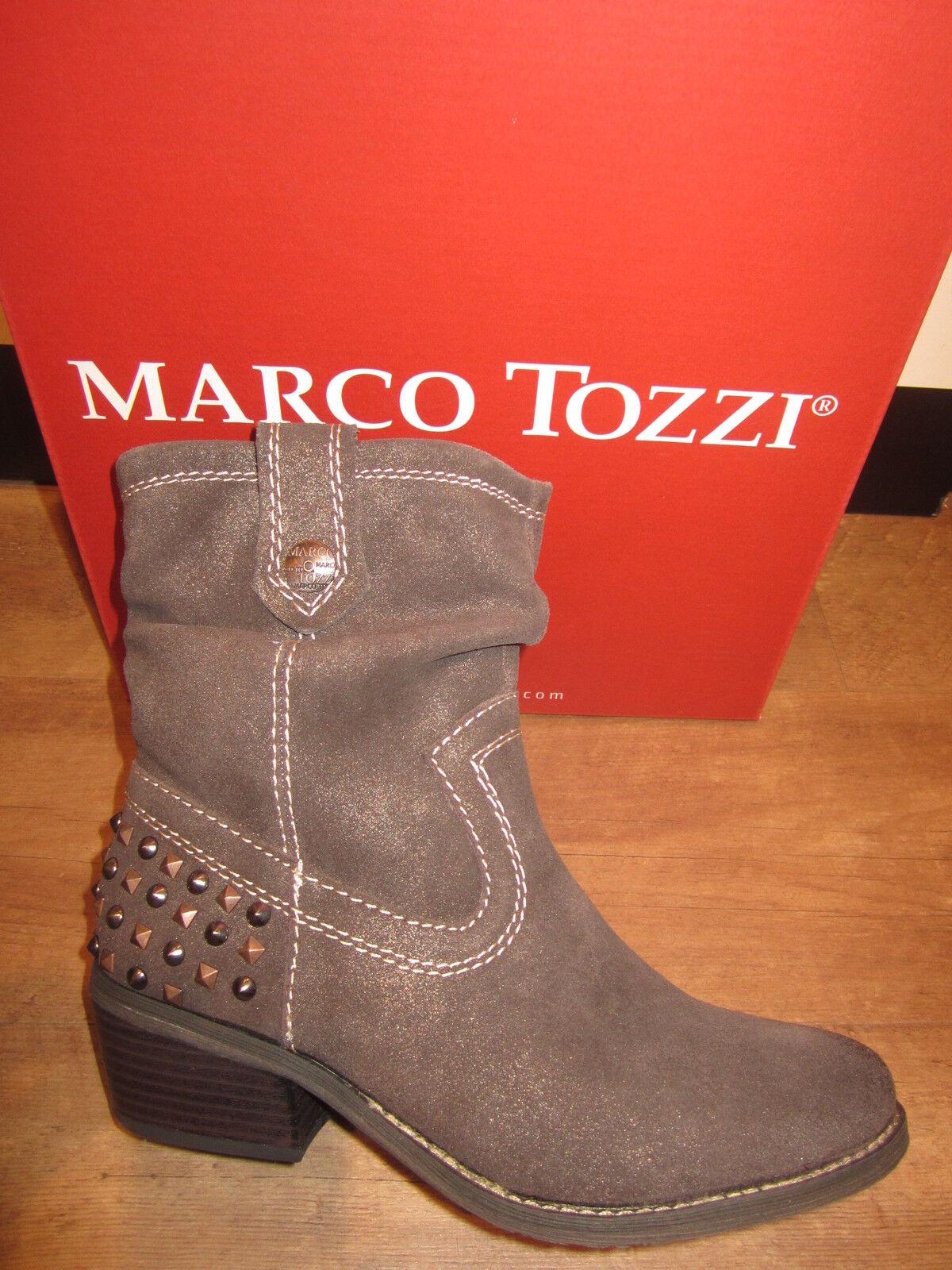 outlet store b72e4 1e9b9 Marco Tozzi Stiefel Stiefelette Stiefeletten braun Leder leicht gefüttert  NEU!!