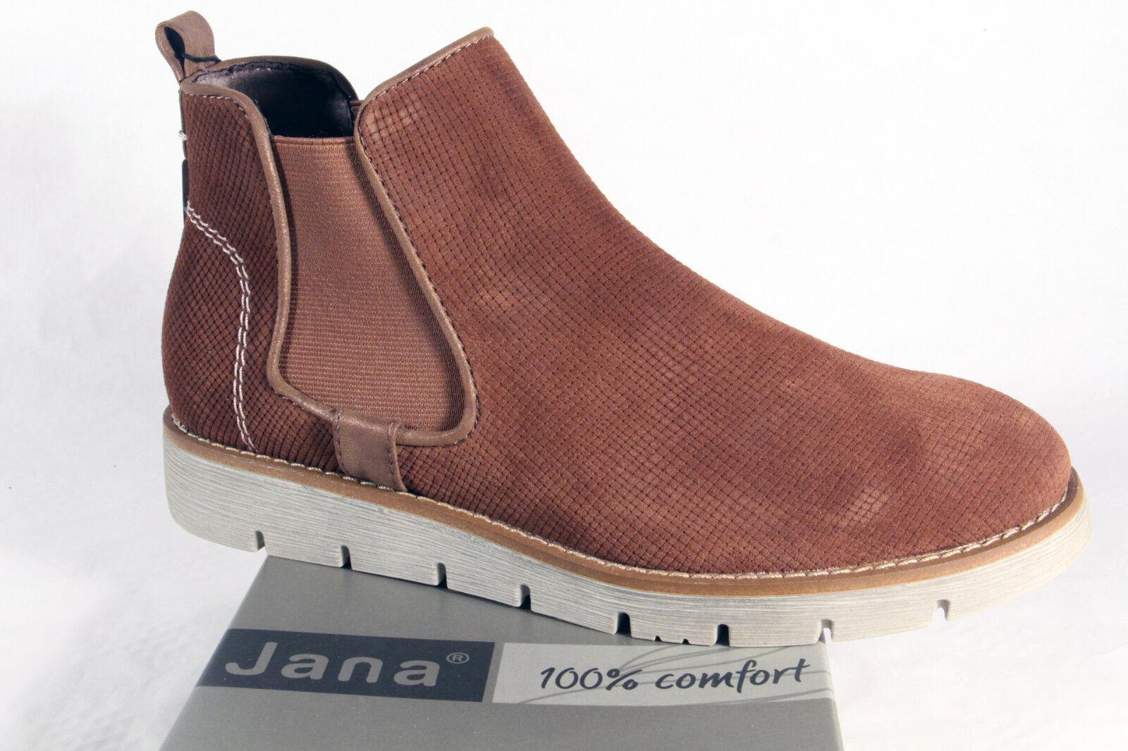 outlet store 19449 47301 Jana Stiefelette, Stiefel, Slipper, Boots Echtleder braun 25409 NEU